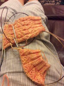 Magic loop socks on Addi needles